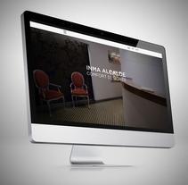 Inma Alcalde. Um projeto de Direção de arte, Consultoria criativa e Web design de Lorenzo Bennassar         - 06.09.2014