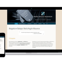 María Angulo -  Abogada en Badajoz. A Web Design project by Luis Mazuecos Salas         - 28.08.2016