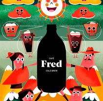 FRED & FRIENDS. A Illustration, and Character Design project by Jhonny  Núñez - 01-05-2017