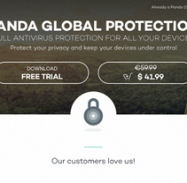 Panda Security · Product Page. A Design, Advertising, Art Direction, Graphic Design, Marketing, and Web Design project by Álex G. Rodríguez - 17-04-2017