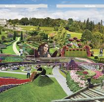 Los jardines más espectaculares del mundo. A Editorial Design, and Collage project by Aída  Moya          - 10.05.2015