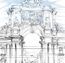 ·Lisbon·. A Design, Illustration, Architecture, Fine Art, Graphic Design, L, scape Architecture, and Sculpture project by Adriana Tejero Pérez         - 24.05.2017