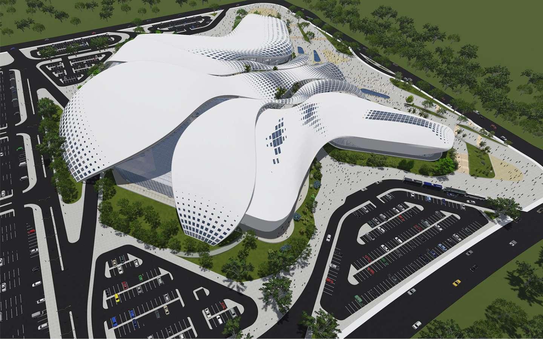 Dise O Arquitect Nico Centro Ferial Internacional Y