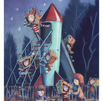 Playgrounds. Ilustración Infantil. A Illustration, Character Design, Fine Art, and Painting project by Carlos de Hevia - 15-10-2016