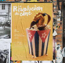 Festival de cine Iberoamericano · La Revolución del cine. A Photograph, Events, Graphic Design, Film, and Lettering project by Gabriel Conserif         - 30.05.2017
