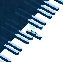 """Paolo Fresu Uri Cane """"Two minuettos"""" album cover. A Design, Illustration, and Vector illustration project by Davide Abbati          - 08.06.2017"""
