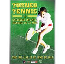 Cartel Tennis Infantil. A Advertising, and Graphic Design project by Frank Romero         - 14.06.2017