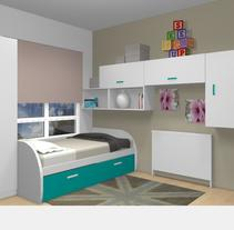 Dormitorio juvenil. A 3D project by Marcela Carla Aboal         - 14.06.2017