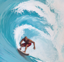 Surfeando ese sueño / Pintura. A Fine Art, and Painting project by Patricia Pagnucco - 19-08-2014