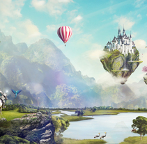 Fairy Tales Matte Painting . A Illustration, Graphic Design, and Digital retouching project by Melo  - 19-06-2017