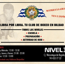 Flyer Club Boxeo. A Graphic Design project by Naiara Valera         - 21.06.2017