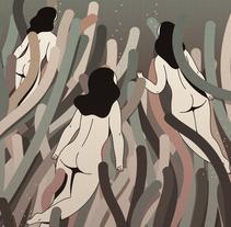 """""""POSIDONIA"""" de la colección """"Otros Mundos"""". Un proyecto de Diseño, Ilustración, Diseño gráfico e Ilustración vectorial de Hugo Giner  - 22-06-2017"""