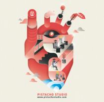 De Pistacho, con amor!!. Un proyecto de Ilustración, Diseño gráfico e Ilustración vectorial de Pistacho Studio  - 06-07-2017