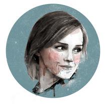 Emma Watson: Retrato ilustrado con Photoshop. Um projeto de Design gráfico de javiwilde         - 07.07.2017