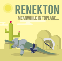 Gifs of Legends - Renekton. A Illustration, Motion Graphics, Animation, Character Design, Character animation, and Vector illustration project by Manuel Díaz Delgado - 07-07-2017