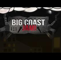 Big Coast Jam. Um projeto de Design, Motion Graphics, Animação, Design de personagens, Multimídia, Vídeo, Animación de personajes e Ilustración vectorial de Carlos González Olmos         - 18.07.2017