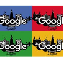 4to Aniversario Google El Salvador. Um projeto de Ilustração de Rodolfo Diaz         - 22.07.2017