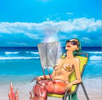 sirena gamba/ shrimpmaid . Un proyecto de Ilustración de El Lino de Adàn AR         - 23.07.2017