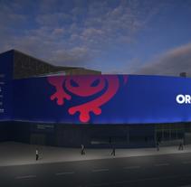Rebranding del exterior del Estadio Ciutat de Valencia. Un proyecto de 3D, Arquitectura, Diseño industrial y Vídeo de Samuel Segura Pareja         - 14.07.2017