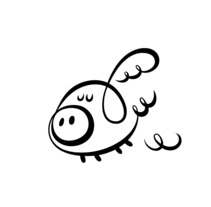 FLYING PIGGIES (Branding). A Design project by David Duprez - 31-07-2012