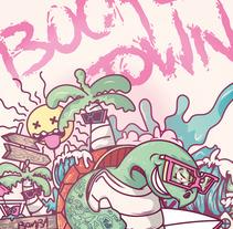 Mi Proyecto del curso: Ilustración para no ilustradores : Bocas Town. Um projeto de Ilustração, Design de personagens e Ilustración vectorial de Aurelio Gll         - 09.08.2017