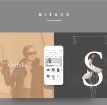 """Mi Proyecto del curso: Dirección de arte digital """"Misako"""". A UI / UX, Br, ing, Identit, Fashion, T, pograph, and Web Design project by Jordi Niubó Lopez         - 23.08.2017"""