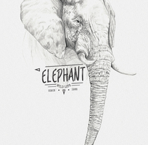 ELEPHANT. A Illustration project by miguel sastre - 30-08-2017