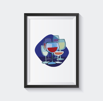 Manifiesto Vino. A Illustration, Br, ing, Identit, Vector illustration&Icon design project by Anabel  Najar Colom - 07-11-2017