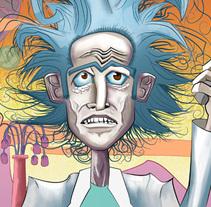 Rick and Morty Fan Art.. Un proyecto de Ilustración y Comic de Carlos Vargas Gutiérrez         - 31.08.2017