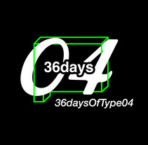 36 days of type 04.. A Design, Illustration, Music, Audio, Animation, Graphic Design, Calligraph, Video, Sound Design, Lettering, and Vector illustration project by panchisoii         - 06.09.2017