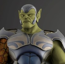 Super skrull. A 3D, Animation, Character Design, Multimedia, To, Design, and Comic project by Victor Morcillo Luque         - 12.09.2017