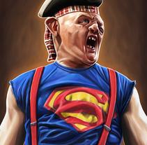 Super Sloth! The Goonies. A Illustration project by Jorge M. Hernández Alférez         - 27.09.2017
