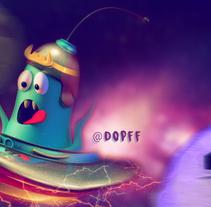 Mi Proyecto del curso: Introducción exprés al 3D: de cero a render con Cinema 4D. A Illustration, 3D, and Character animation project by Daniel ocampo parra - 29-09-2017