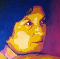 Retrato.Acrílico.. Un proyecto de Pintura de Mónica Fernández         - 04.11.2017