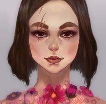 Flores para la guerrera. Un proyecto de Ilustración de Susana         - 02.10.2017