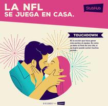 La NFL se juega en casa. A Design, Illustration, and Advertising project by Daniel Diosdado         - 25.09.2017