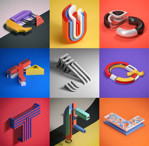 Alphabet (36days 2016). A Illustration, 3D, Graphic Design, T, and pograph project by Serafim Mendes         - 25.04.2016