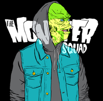 Monster Squad. A Illustration, Fashion, Screen-printing, T, and pograph project by Irene/Eneri Mateos - 15-10-2017