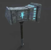War hammer. A 3D project by Cristian Rodriguez Padilla         - 16.10.2017