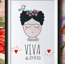 VIVA LA FRIDA!. A Design, Illustration, and Vector illustration project by Júlia Vidigal Munhoz         - 01.01.2016