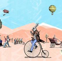Un domingo en el desierto. A Illustration project by Erick  Herrera Velasco - 19-10-2017