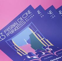 23 Festival de Cine Francés de Málaga. Un proyecto de Br, ing e Identidad, Diseño gráfico e Ilustración vectorial de Estudio Santa Rita  - 20-10-2017