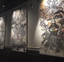 Collografías en gran formato. Exhibición en Centro Panteón. Mexico . Un proyecto de Dirección de arte, Artesanía, Bellas Artes, Escenografía y Collage de Zoveck Estudio  - 21-10-2017