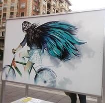 Ilustración colaboradora.Ciudad de las bicis. Zaragoza.. A Illustration project by carmen_navarro         - 23.10.2017