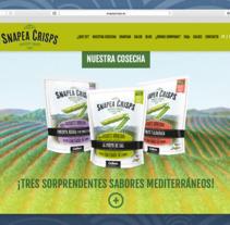 Dissney web Snapea Crisps. A Graphic Design, and Web Design project by ferran llorens fañanás         - 18.05.2016