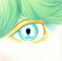 Mirada de ángel. A Illustration project by eNIDAN          - 10.03.2015