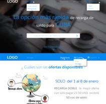 Diseño web para pagina de recarga de saldo. A Web Design project by Tahimi Leon Bravo         - 01.06.2017