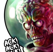 Mars Attack . A Design&Illustration project by Juan  Agulló Medina         - 27.10.2017