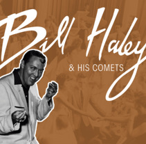 LP para Bill Haley & His Comets. A Br, ing, Identit, Graphic Design, Packaging, T, pograph, and Lettering project by Josep Espriu Hernández         - 01.04.2017