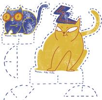 Gatos recortables. Un proyecto de Ilustración de Marina Hdez Ávila - 06-11-2016